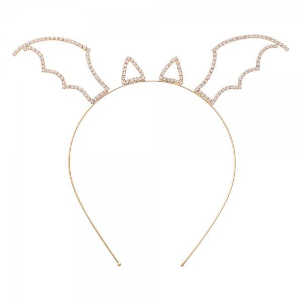 Evil Bat Crystal Halloween Headband  - One Size Fits Most