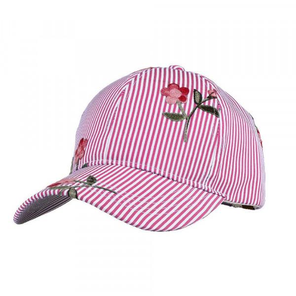 Wholesale c C Brand BA pinstripe floral baseball cap standard adjustable ponytai