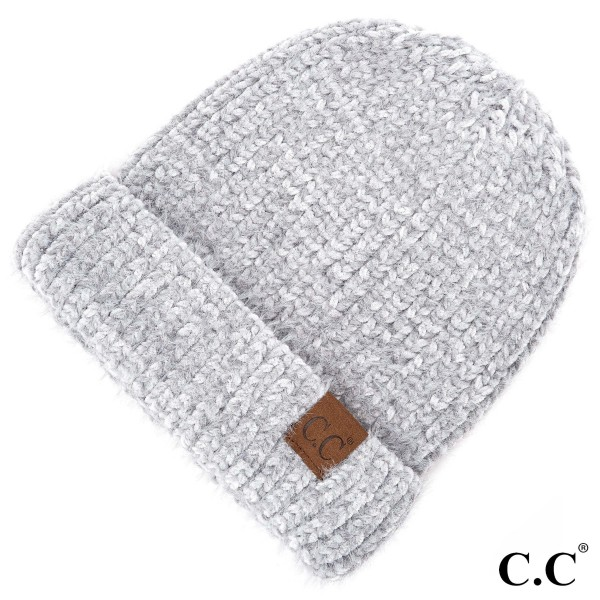 C.C HAT-1925  Chenille beanie  - 70% Polyester, 30% Nylon - One size fits most