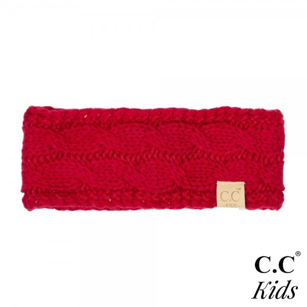 C.C HW-20-KIDS Kids Cable Knit Headwrap  - One size fits most Kids - 100% Acrylic