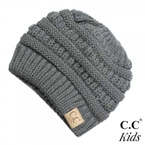 Wholesale c C MB KIDS Solid color messy bun beanie kids Acrylic Band circumferen