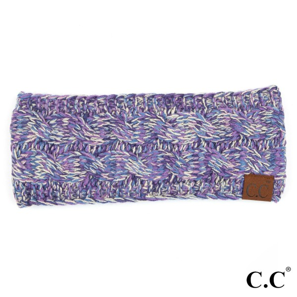 C.C HW-816 Multicolor cable headwrap  - 100% Acrylic - One size fits most