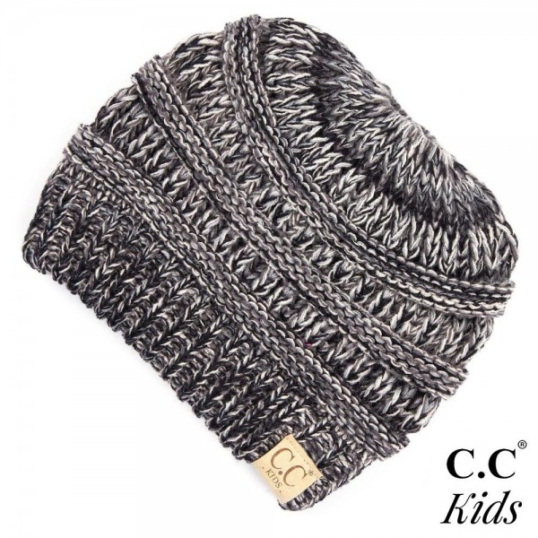 Wholesale c C MB KIDS Kids Multicolor Knit Ponytail Beanie One fits most kids Ac