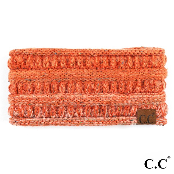 C.C HB-817 Ombre ribbed confetti knit ponytail headband  - 100% Acrylic - One size fits most