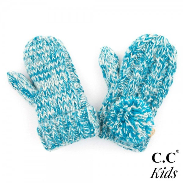 Wholesale c C MT KIDS Two pom kids gloves fuzzy lining Acrylic One fits most