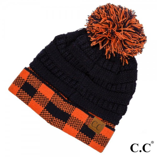 Wholesale c C HAT Ribbed knit two game day pom beanie One fits most Acrylic