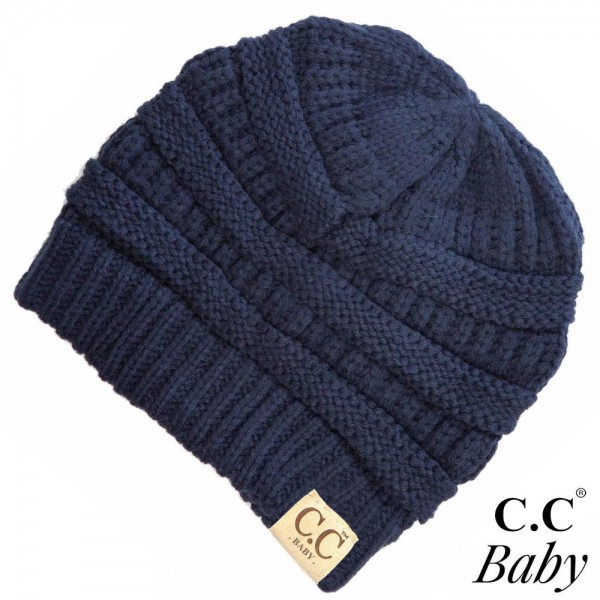C.C Baby-847 Baby Solid Knit Beanie  - 100% Acrylic - One size fits most Babies