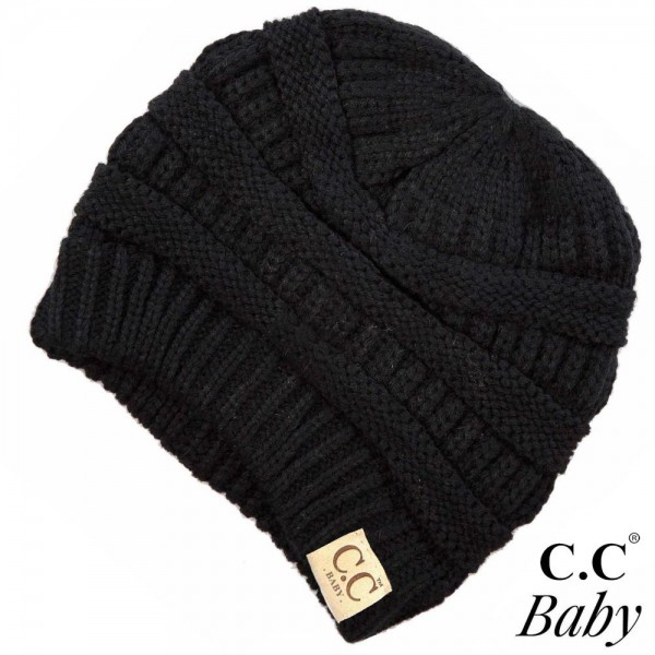 Wholesale c C Baby Baby Solid Knit Beanie Acrylic One fits most Babies