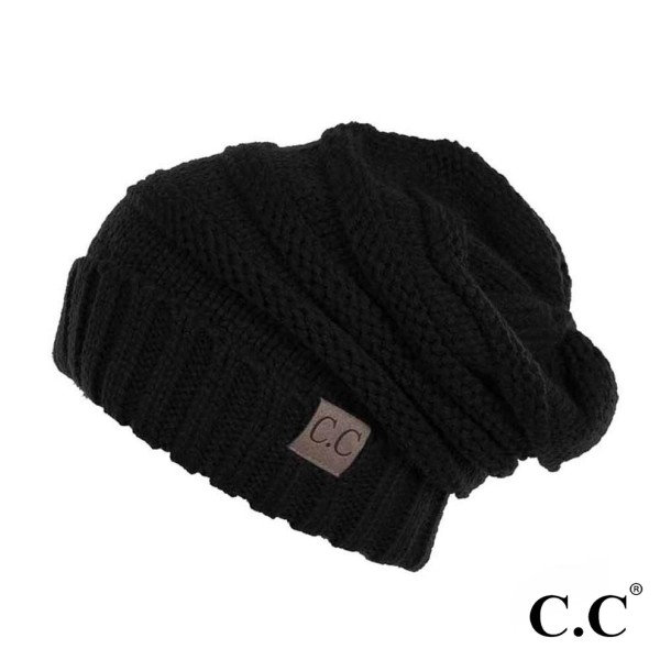 C.C HAT-100  Ribbed Knit Slouchy Beanie.  - One size fits most - 100% Acrylic