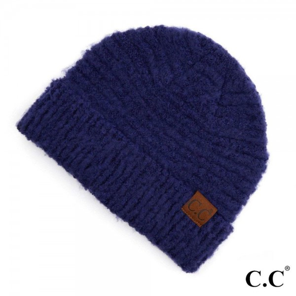 Wholesale c C HAT Solid Boucle Yarn Beanie Polyester Boucle One fits most Matche
