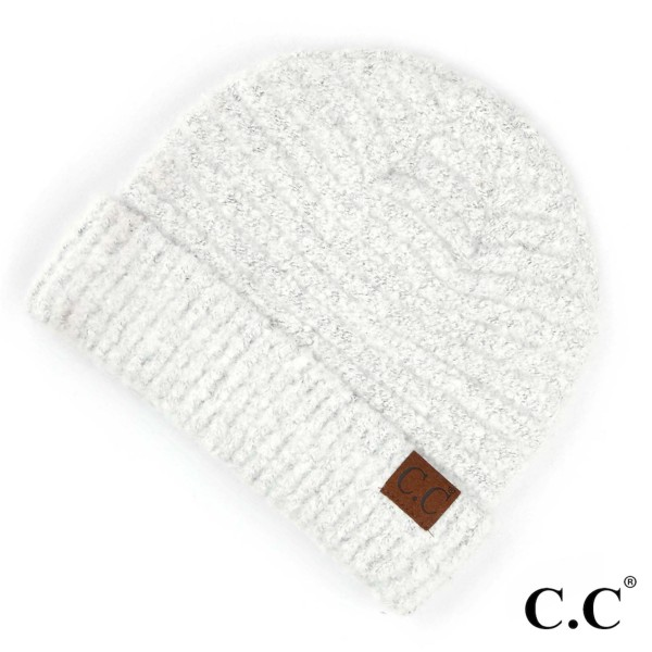 C.C HAT-7006  Solid boucle yarn beanie  - 100% Polyester Boucle - One size fits most - Matches C.C SF-7006 and G-7006