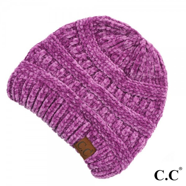 Wholesale c C HAT Chenille Knit Beanie One fits most Chenille One fits most Chen