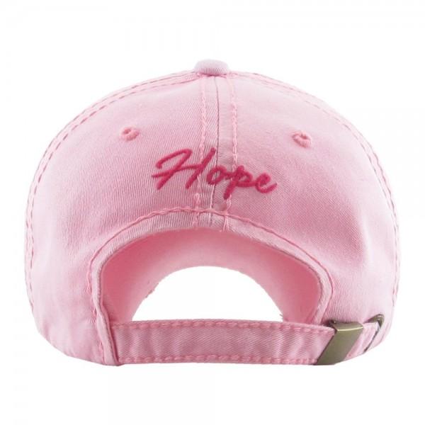 Distressed Breast Cancer Awareness Vintage Baseball Cap.  - One size fits most - Adjustable back strap - 100% Cotton