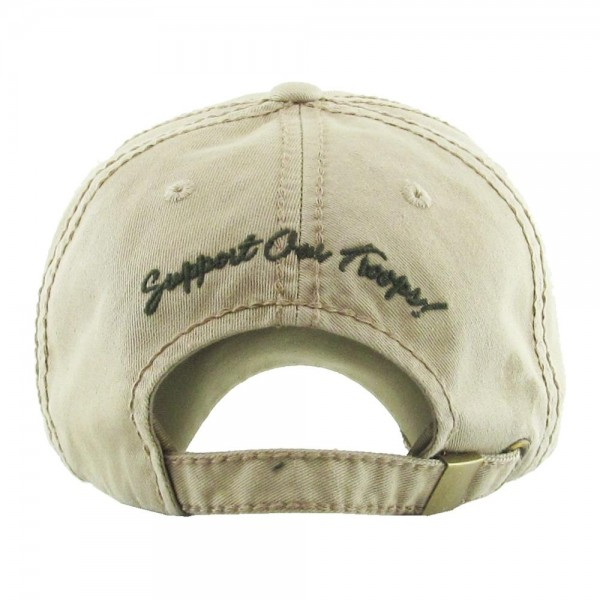 Vintage Distressed Camouflage Breast Cancer Awareness Baseball Cap.  - One size fits most - Adjustable back strap - 100% Cotton