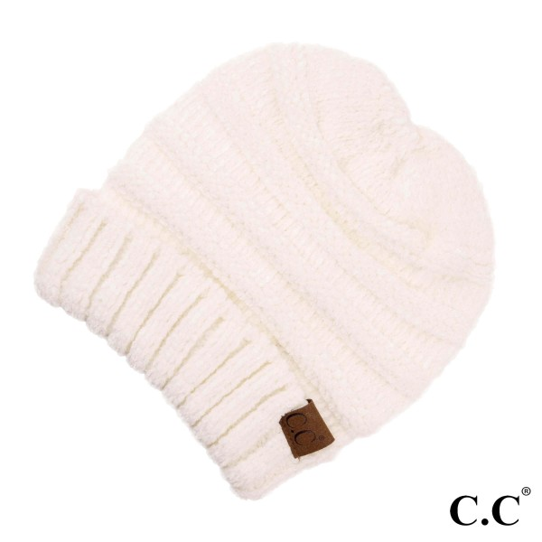 C.C HAT-850 Chenille knit cuff beanie  - One size fits most - 100% Acrylic
