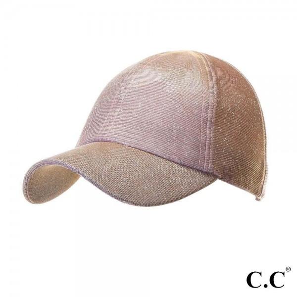 Wholesale c C Sports Cap BT Glitter athleisure pony cap elastic band Two way str