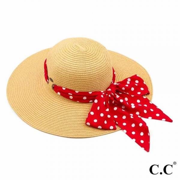 Wholesale c C ST Paper straw brim hat decorative pull through sash scarf UPF One