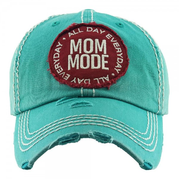 Wholesale all Day Everyday Mom Mode Embroidered Distressed Baseball Cap One fits