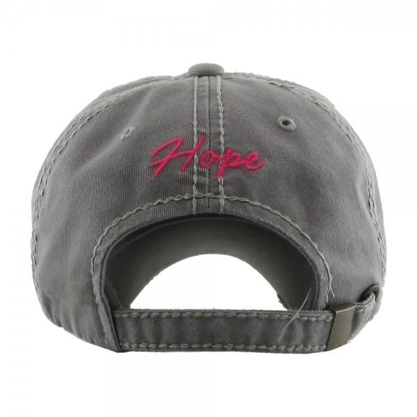 Vintage Distressed Breast Cancer Awareness Baseball Cap.  - One size fits most - Adjustable back strap - 100% Cotton
