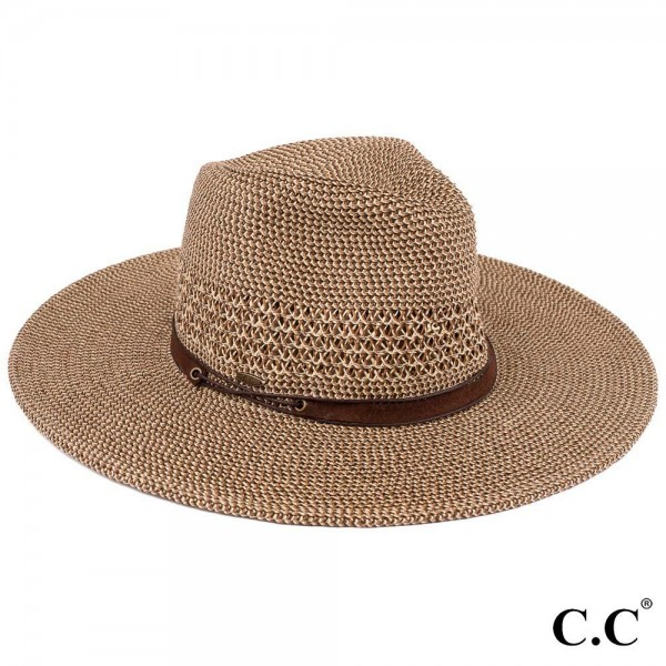 Wholesale c C ST Paper straw brim Panama hat faux leather string band One fits m