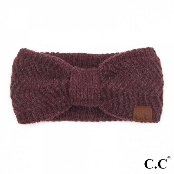 C.C HW-9000 Chevron Knit Pattern Head Wrap.  - One size fits most  - 85% Acrylic / 10% Nylon / 5% Polyester