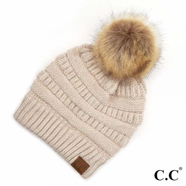 Wholesale c C HAT POM Yarn Knit Pom Beanie One fits most Rayon PBT Nylon