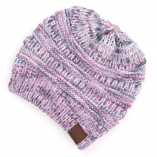 Wholesale c C HAT Multicolor Ribbed Knit Beanie One fits most Acrylic