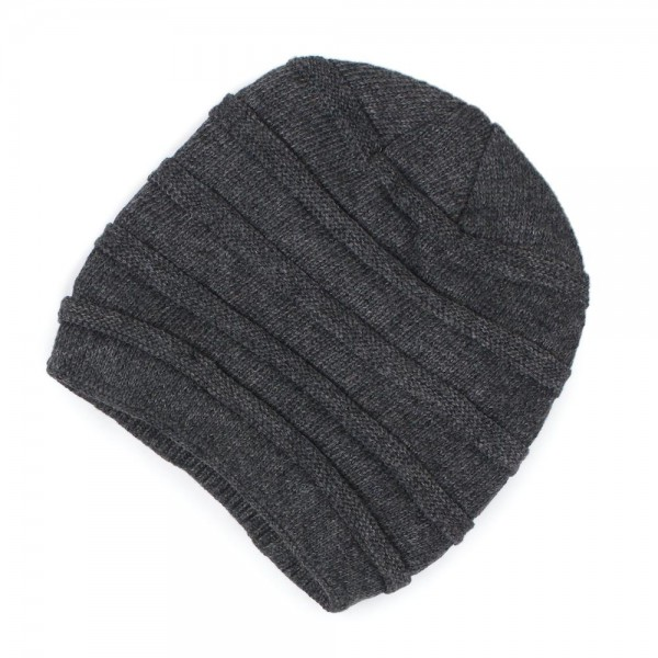 Solid Ribbed Knit Beanie Featuring Faux Fur Lining.  - Faux Fur Lined - One size fits most Adults - 100% Acrylic