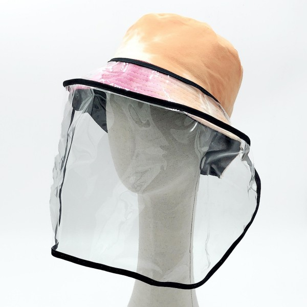 "Do everything in Love Brand Adjustable Transparent UV Protective Bucket Hat Full Face Shield.  - FULL PROTECTION: It's a full face safety shield for men and women to guard face and eyes, effectively isolates saliva, waterproof and dust proof, anti-spitting splash bucket hat. - DESIGN: Removable transparent bezel design made of high quality PVC material, wide view. - Adjustable Drawstring Closure - Approximately 10"" T x 17"" W - PRACTICALITY: High-definition transparent mask, clear and unobstructed vision, ensuring safety and comfort. - APPLICATIONS: It's versatile for a variety of uses in industrial and home settings, lightweight and comfortable.  *** Note: wearing a mask plus a protective cap will be more effective, or you can also choose glasses."