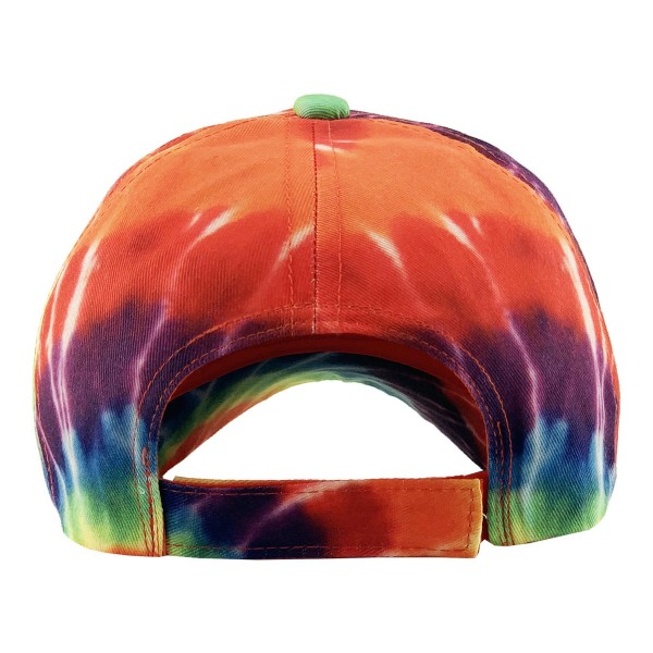 Tie-Dye Baseball Cap.  - One size fits most - Adjustable Velcro Closure - 55% Cotton / 45% Polyester