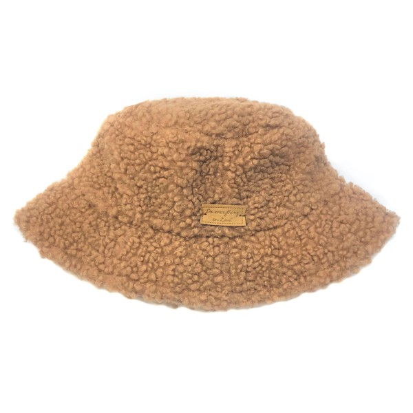 Do everything in Love Brand Teddy Bucket Hat   - One size fits most - 100% Polyester