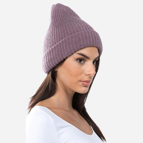 Thick Ribbed Knit Beanie.  - One size fits most - 75% Acrylic / 22% Nylon / 3% Spandex