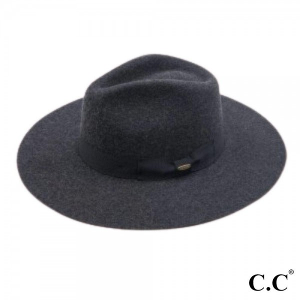 "C.C W1034 Australian Wool Felt Panama Hat Featuring Ribbon Band.  - One size fits most - Adjustable Inside Drawstring - Brim Width: 3.25"" - 100% Wool"