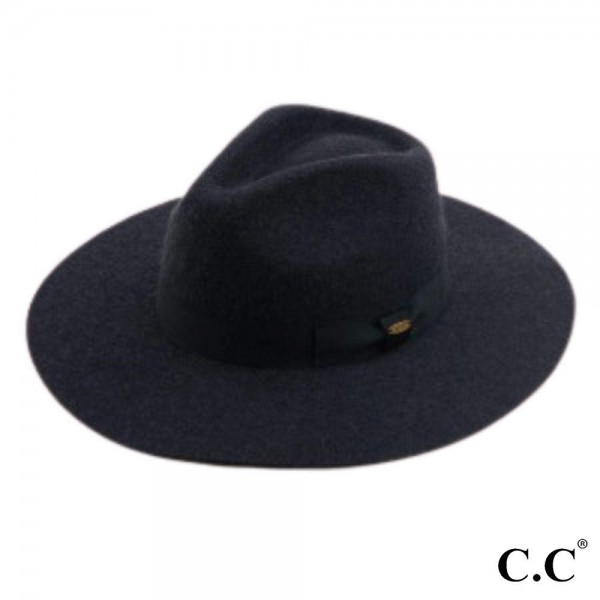 "C.C W771 Australian Wool Felt Wide Brim Hat Featuring Ribbon Band. (6 PACK)  - One size fits most - Adjustable Inside Drawstring - Brim: 3.5"" - 100% Wool"