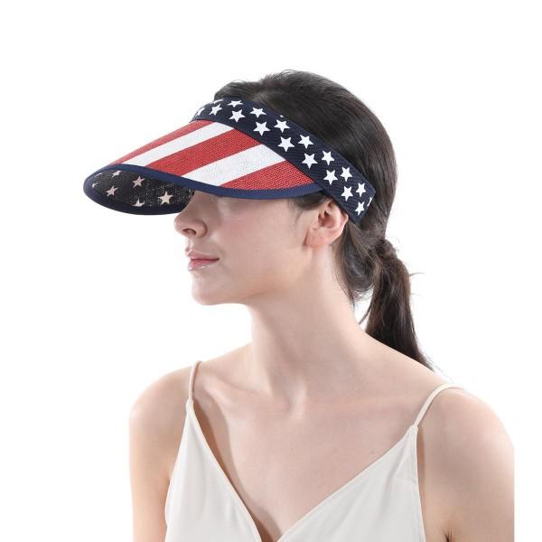 USA Wicker Sun Visor.  - One size fits most - Cuff Headband - 100% Paper