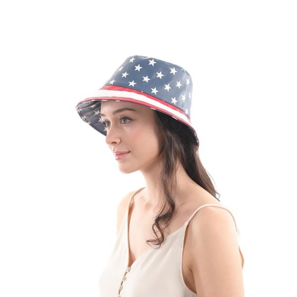 PU USA Bucket Hat.  - One size fits most  - 100% PU