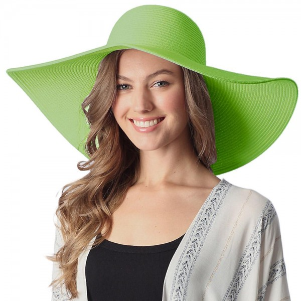 """Wide Brim Paper Straw Floppy Sun Hat.  - One Size Fits Most - Inside Adjustable Drawstring For Perfect Fit - Brim: 6""""  - 100% Paper"""