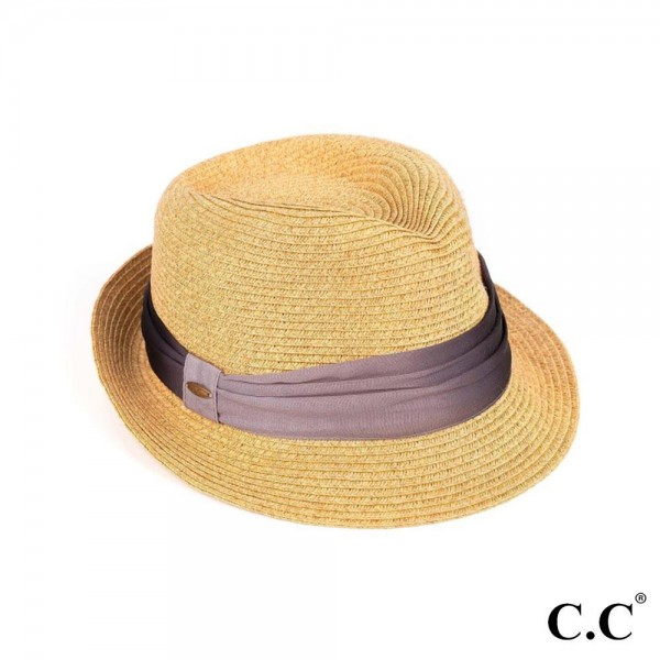 Small Brim Paper Hat Featuring a Chiffon Sash.   - 80% Paper / 20% Polyester  -  Adjustable Draw String Inside Brim of Hat for Better Fit - Hat Provides UV Protection of Up To 50+ UPF  - One Size Fits Most
