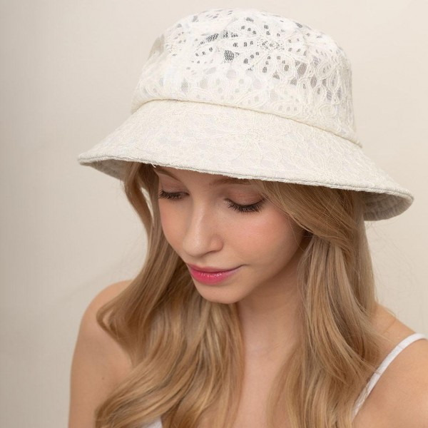 Floral Lace Bucket Hat.   - 100% Cotton - One Size Fits Most