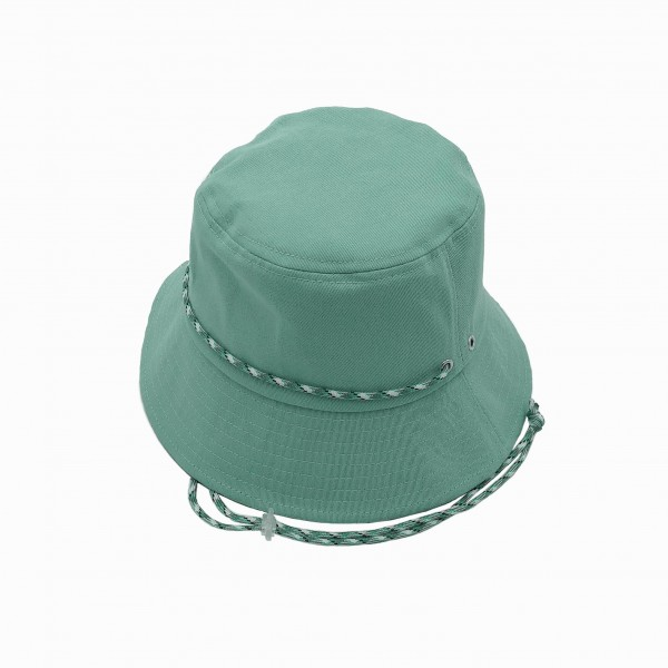 Bucket Hat Featuring Adjustable Chin Strap.   - 100% Cotton - One Size Fits Most - Adjustable Drawstring Inside Hat for Perfect Fit