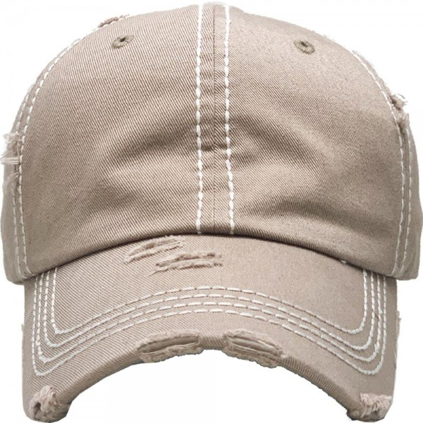 Basic Vintage Distressed Baseball Cap.  - One size fits most - Adjustable Velcro Closure - 100% Cotton