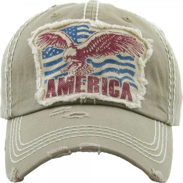 Vintage Distressed American Eagle Baseball Cap.  - One size fits most  - Adjustable Back Closure - 100% Cotton