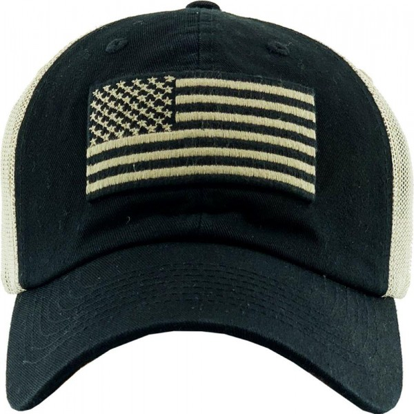 Vintage Distressed USA Flag Mesh Baseball Cap.  - One size fits most  - Adjustable Snap Closure - 100% Cotton