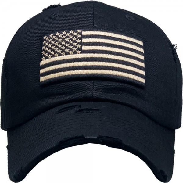 Vintage Distressed USA Flag Baseball Cap.  - One size fits most  - Adjustable Back Closure - 100% Cotton