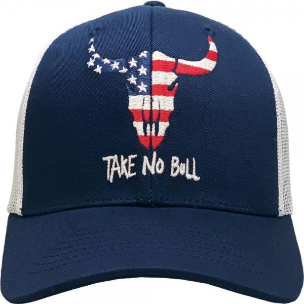 USA Take No Bull Vintage Mesh Baseball Cap.  - One size fits most - Adjustable Snap Closure - 100% Cotton