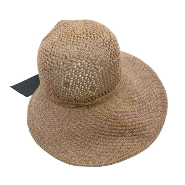 Straw Sun Hat Featuring Ponytail Hole, Velcro Closure, and Decorative Bow on Back.   - 100% Paper - One Size Fits Most