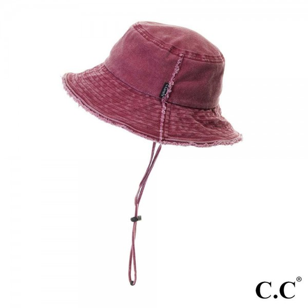 Wholesale washed Frayed Denim Bucket Hat Frayed Edges Cotton Brim Detachable Dra
