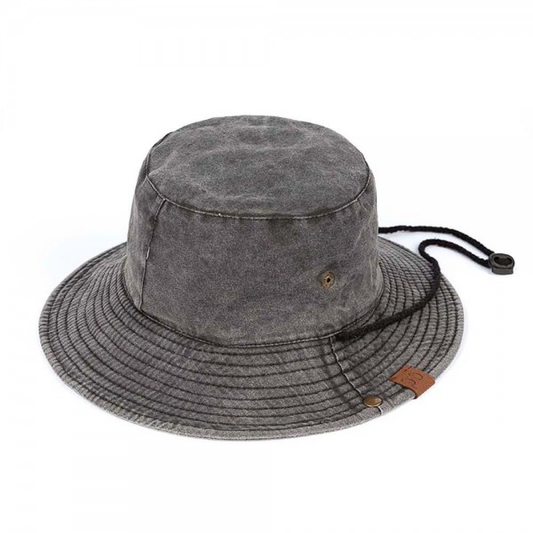 Camouflage Bucket Hat Featuring Drawstring and Button Up Sides.   - One Size Fits Most Adults - 100% Cotton