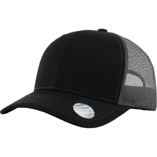 Solid Color Trucker Baseball Cap With Mesh Details.   - Monagrammable - One size fits most - Adjustable back strap - 100% Cotton