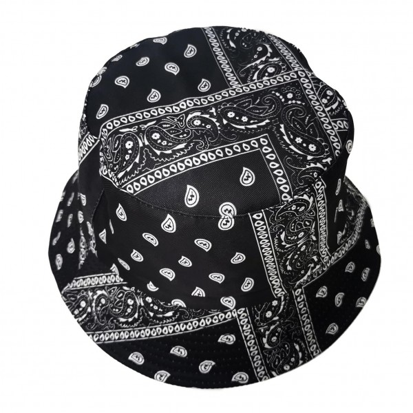 """Bandana Print Bucket Hat.   - 100% Polyester - One Size Fits Most - Brim is Approximately 2.5"""""""